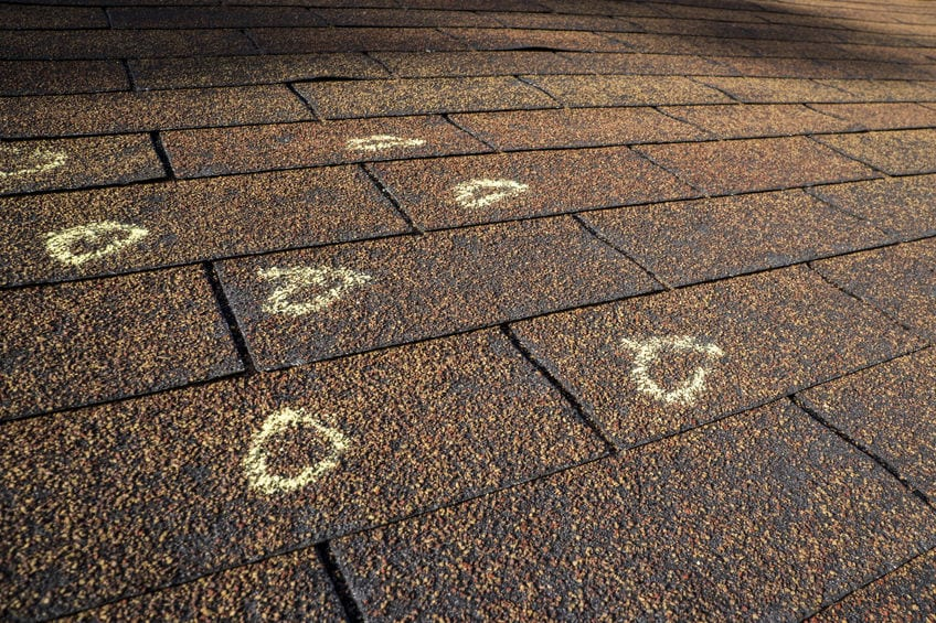 Roof leaks, Roof inspection, Missing shingles. BAY 101